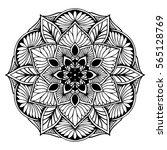 mandalas for coloring book.... | Shutterstock .eps vector #565128769