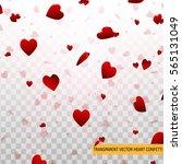 Valentine Day Red Hearts...
