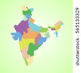 political map of india | Shutterstock . vector #565133329