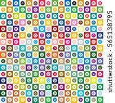 gear image vivid color tile  ... | Shutterstock .eps vector #565138795