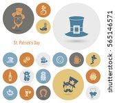 saint patricks day icon set.... | Shutterstock .eps vector #565146571