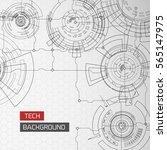 modern virtual technology set... | Shutterstock .eps vector #565147975