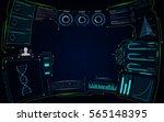 abstract virtual future smart... | Shutterstock .eps vector #565148395