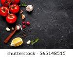 concept cook work on dark... | Shutterstock . vector #565148515