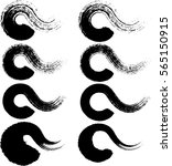 wavy and grungy brush | Shutterstock .eps vector #565150915
