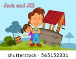 jack and jill  kids english... | Shutterstock .eps vector #565152331