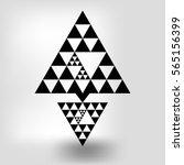 abstract vector figure of black ... | Shutterstock .eps vector #565156399