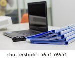 file folder with documents and... | Shutterstock . vector #565159651