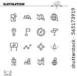 navigation flat icon set.... | Shutterstock .eps vector #565173919