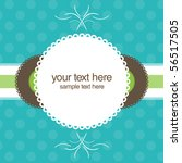 beautiful gift card  vector... | Shutterstock .eps vector #56517505