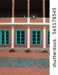 beautiful building's facade   Shutterstock . vector #565178545