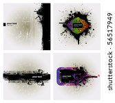 4 banner in dark grunge style | Shutterstock .eps vector #56517949
