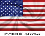 usa flag with fabric texture.... | Shutterstock . vector #565180621
