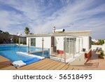 beautiful villa with a refresh... | Shutterstock . vector #56518495