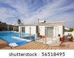 beautiful villa with a refresh... | Shutterstock . vector #56518495