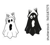ghost icon. happy halloween.... | Shutterstock .eps vector #565187575