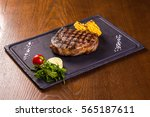 grilled beef steak with corn... | Shutterstock . vector #565187611