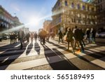 crowd of anonymous people... | Shutterstock . vector #565189495