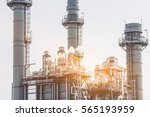 glow light of petrochemical... | Shutterstock . vector #565193959