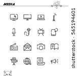 mass media flat icon set.... | Shutterstock .eps vector #565194601