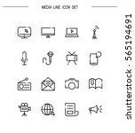 mass media flat icon set.... | Shutterstock .eps vector #565194691