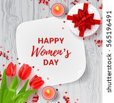 greeting card for women's day.... | Shutterstock .eps vector #565196491