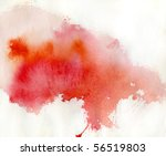 Red Spot  Watercolor Abstract...