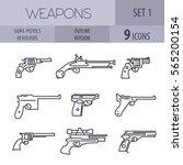 firearm set. guns  pistols ... | Shutterstock .eps vector #565200154