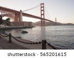 golden gate bridge in the... | Shutterstock . vector #565201615