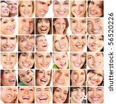 Faces Of Smiling People. Teeth...