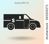 cash in transit vehikle with...   Shutterstock .eps vector #565203271