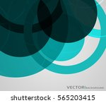 abstract green circles design... | Shutterstock .eps vector #565203415