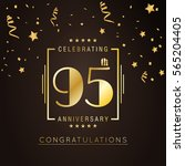 95th anniversary logo with... | Shutterstock .eps vector #565204405