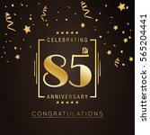 85th anniversary logo with... | Shutterstock .eps vector #565204441