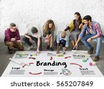 product branding trademark... | Shutterstock . vector #565207849