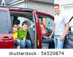 smiling happy family and a... | Shutterstock . vector #56520874