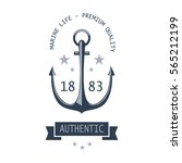 vintage nautical labels  icons...   Shutterstock . vector #565212199