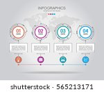 vector infographic template.... | Shutterstock .eps vector #565213171