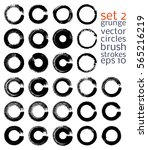 vector brush strokes circles of ... | Shutterstock .eps vector #565216219