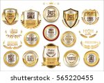 luxury retro badge and labels... | Shutterstock .eps vector #565220455