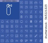 set of user interface symbols... | Shutterstock .eps vector #565221325