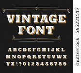 vintage alphabet font. ornate... | Shutterstock .eps vector #565221517