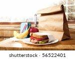 delicious and healthy school... | Shutterstock . vector #56522401