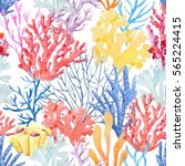 watercolor pattern beautiful... | Shutterstock . vector #565224415