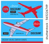 airline company banners  red...   Shutterstock .eps vector #565226749