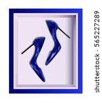 Women's Shoes Blue Heels In Th...