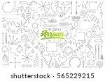 hand drawn set of arrow doodles ...   Shutterstock .eps vector #565229215