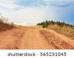 country road disappearing into... | Shutterstock . vector #565231045
