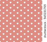 seamless heart pattern... | Shutterstock .eps vector #565231705