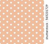 seamless heart pattern... | Shutterstock .eps vector #565231729